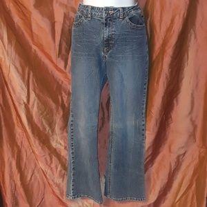 Riders Denim Blue Jeans 5 Pockets waist Tighteners